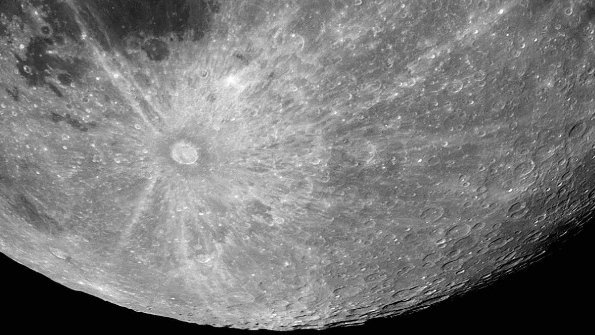Кратер Тихо на поверхности Луны