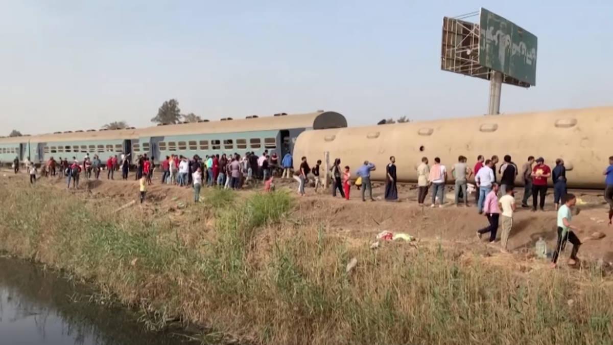 железнодорожная авария в Египте