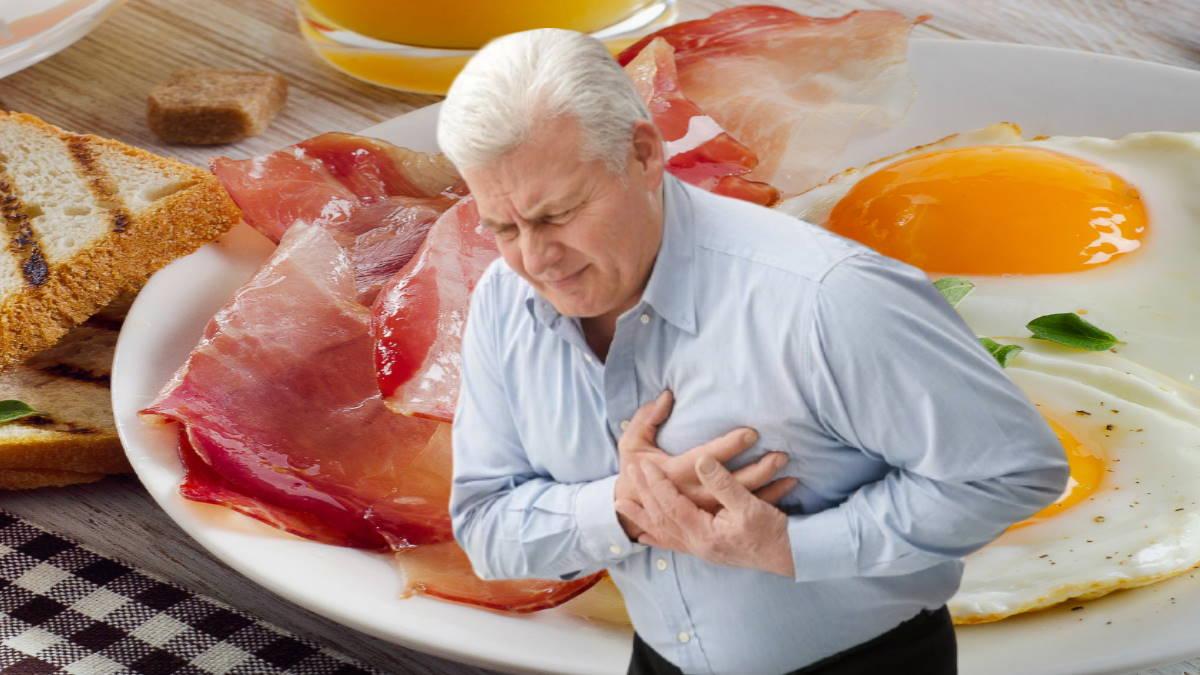 сердечный приступ Бекон яичница