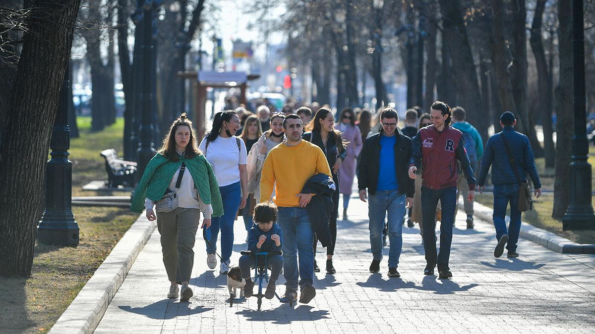 теплая солнечная погода в москве