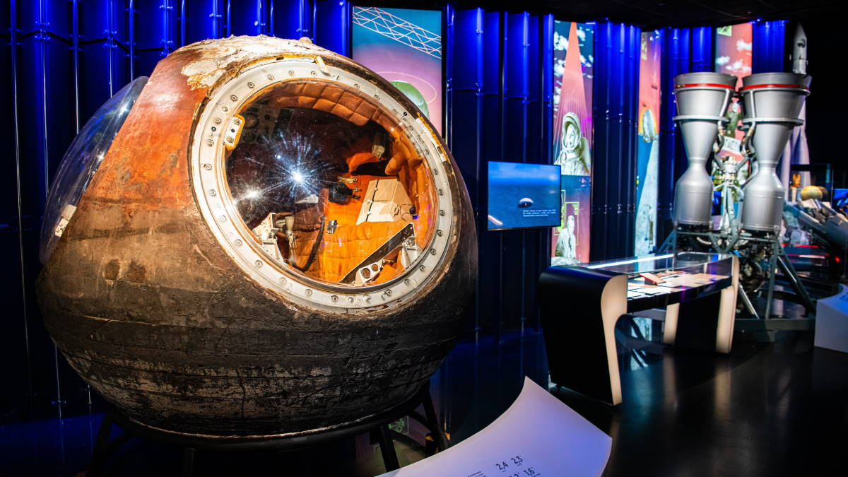 Выставка Первый в Музее космонавтики