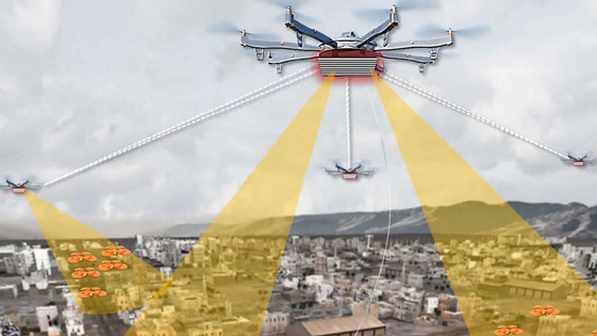 дрон для обнаружения минидронов