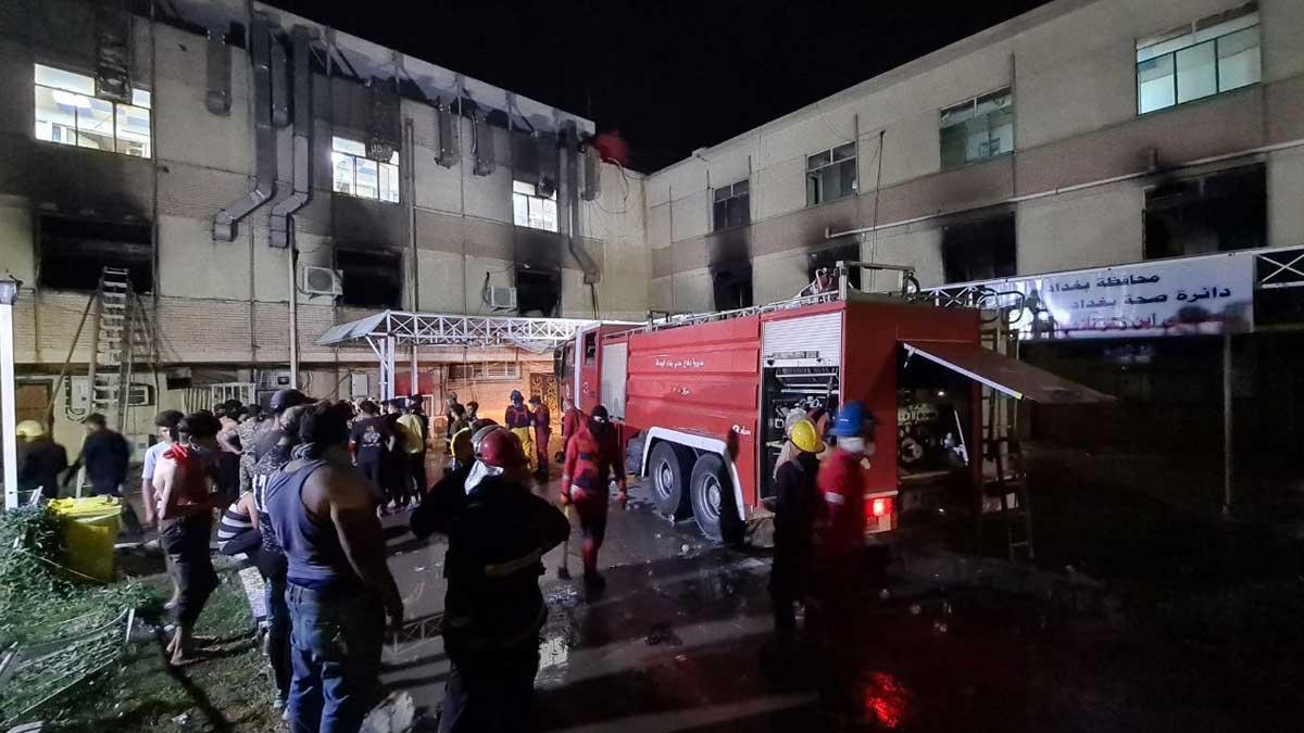 пожар больница Багдад