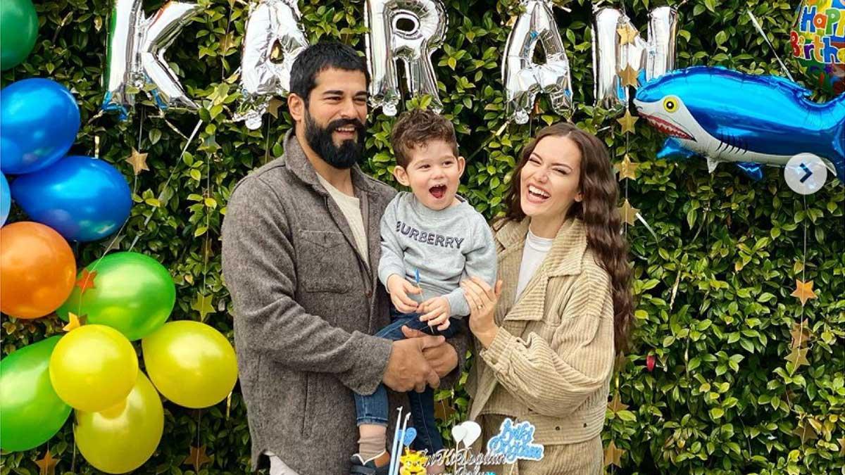 Бурак Озчивит и Фахрие Эвджен отпраздновали День рождения сына два