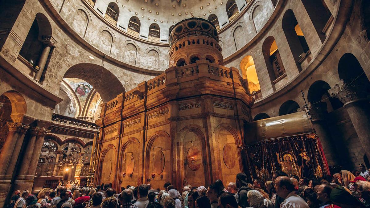 Храм Гроба Господня Храм в Иерусалиме паломники