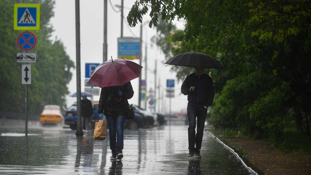 Дождь в Москве май