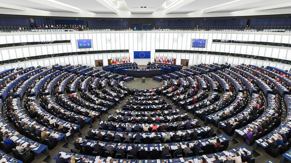 Европарламент в Страсбурге в ходе пленарной сессии