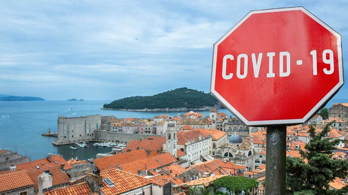 Хорватия Дубровник знак ковид