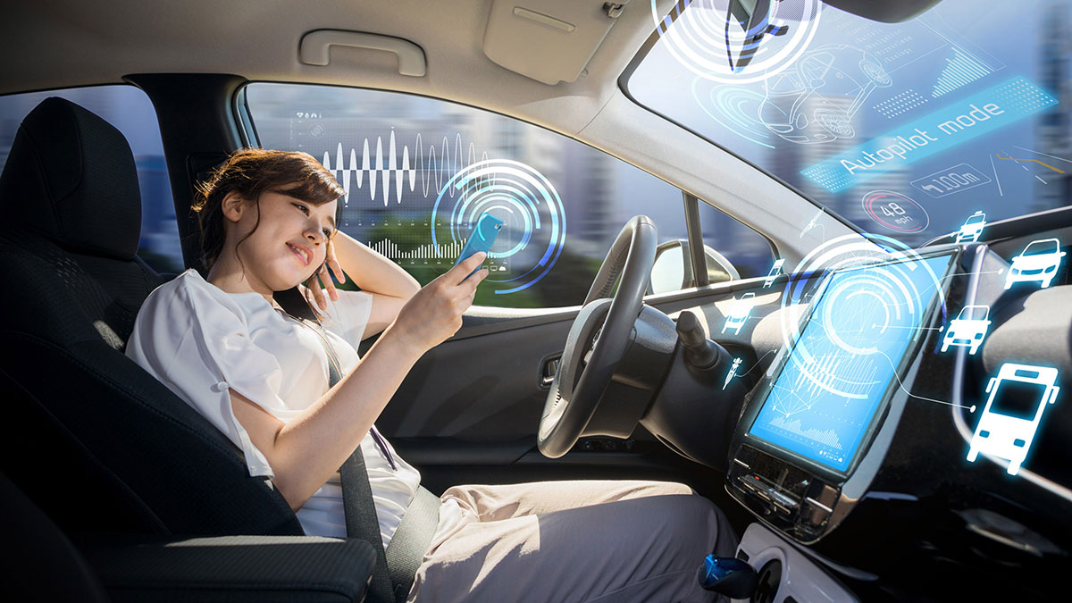 Self-driving машина с автопилотом