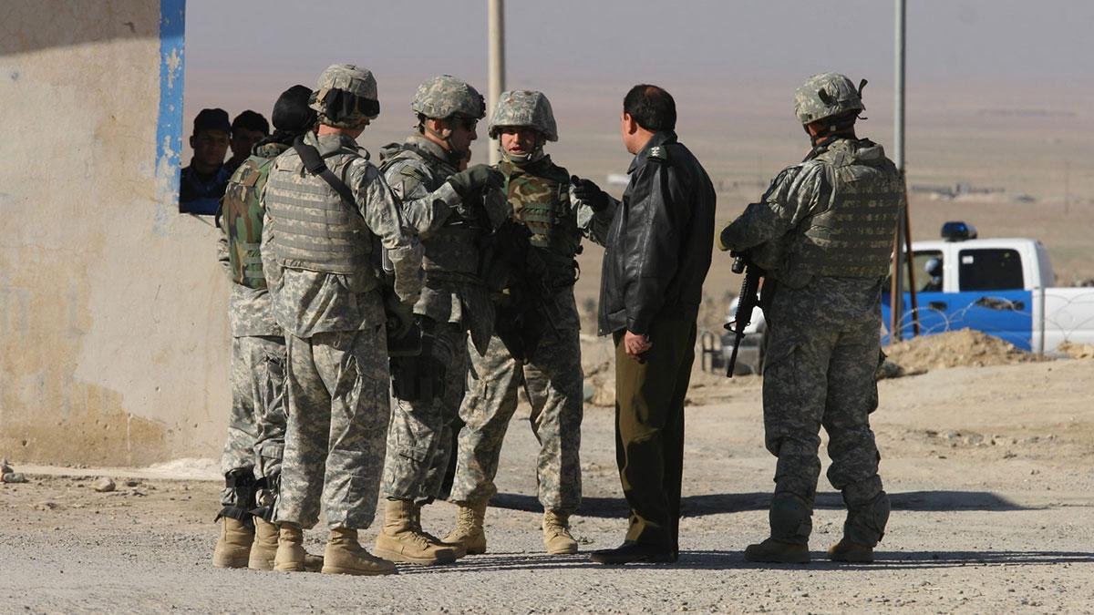 Американские солдаты войска в Ираке