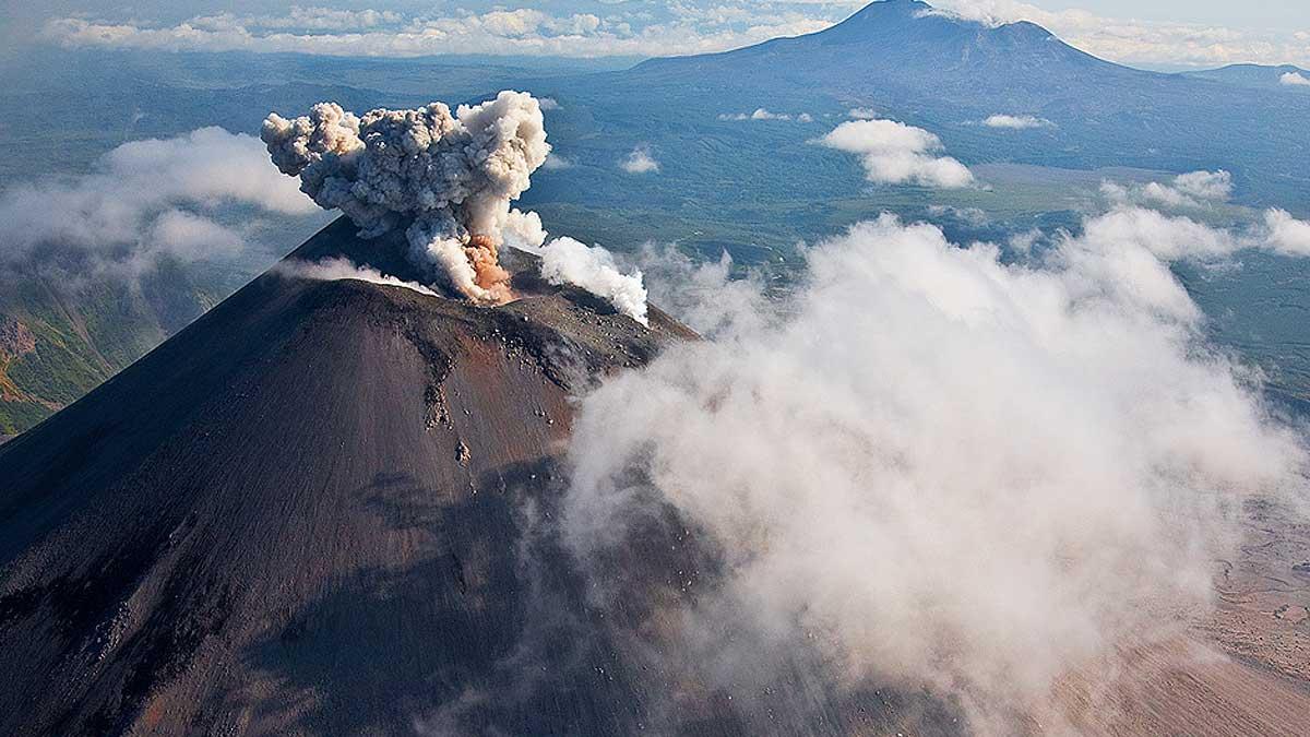 Карымская сопка вулкан извержение