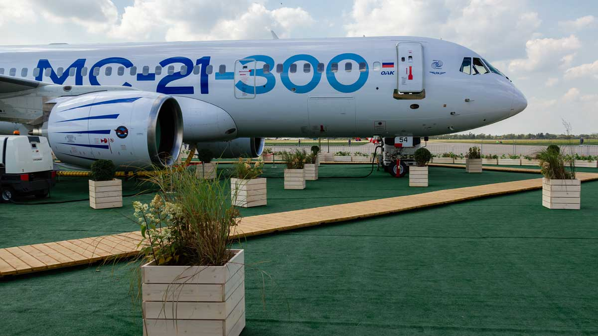 Самолет МС-21 новый российский пассажирский