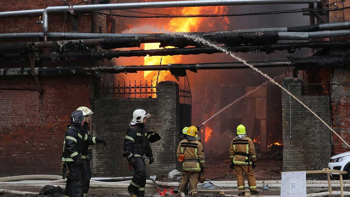 Пожар Санкт-Петербург