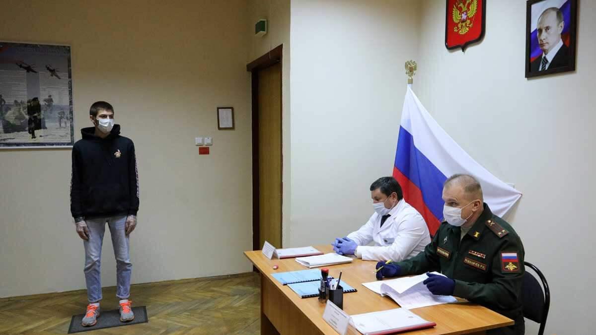 Работа призывной комиссии в военном комиссариате