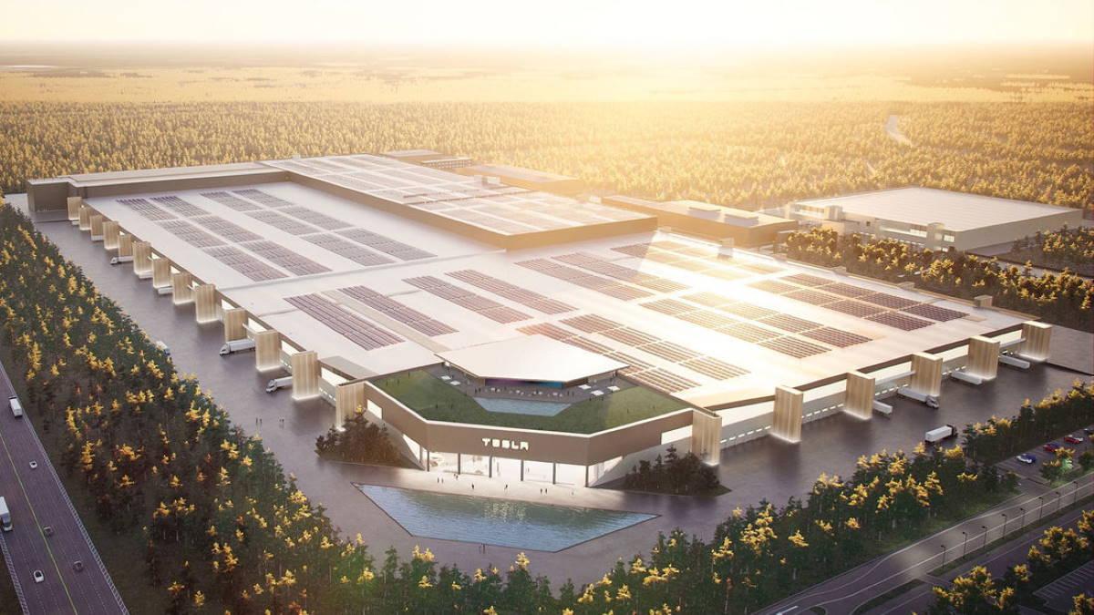 Строящийся завод Tesla в Берлине