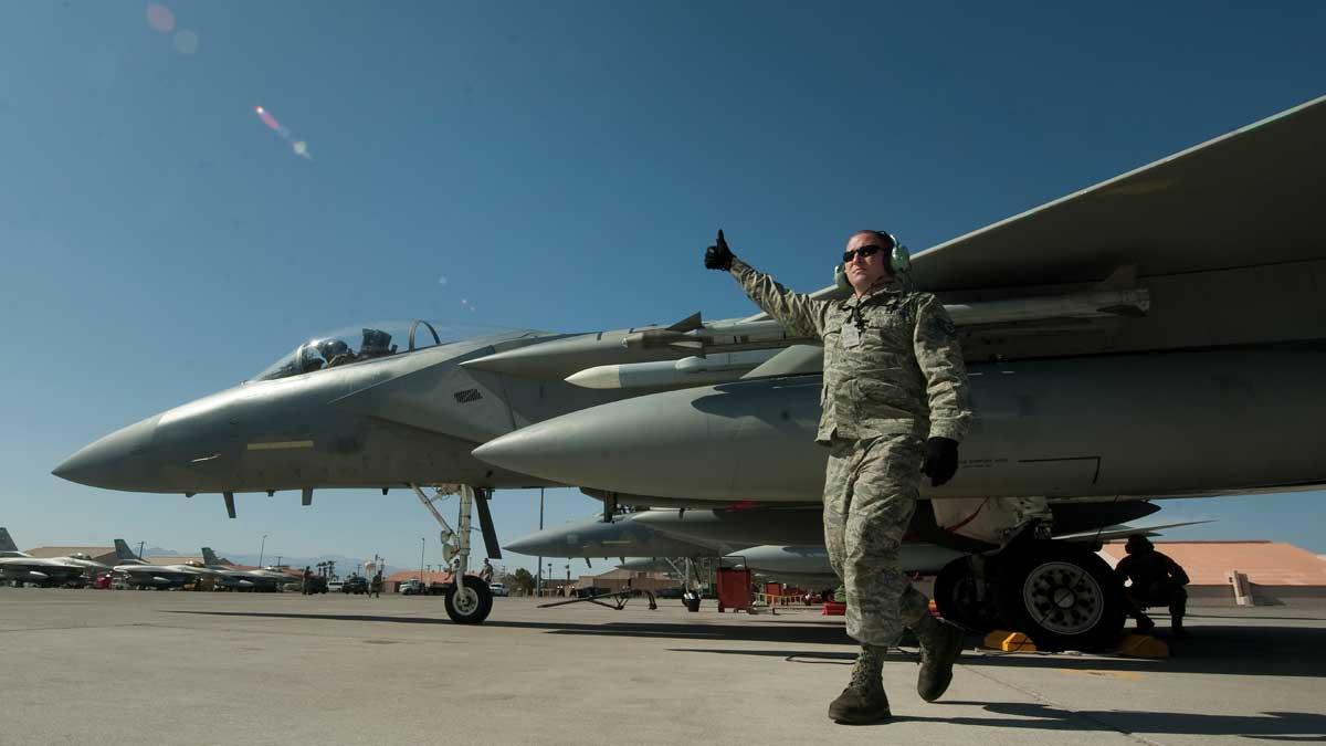 Учения Red Flag военно-воздушные силы США