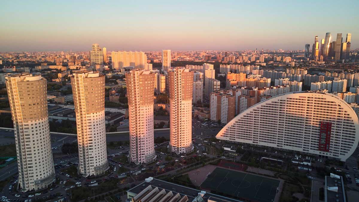 Утро Москва Москва Сити