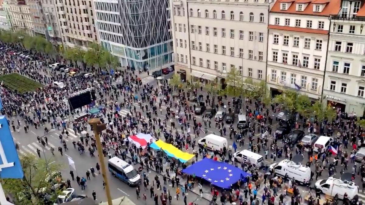 антироссийские митинги в чехии протест