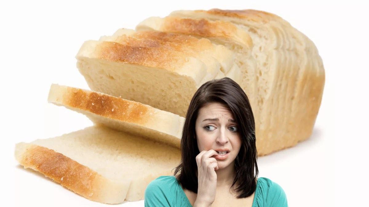 белый хлеб и опасения женщины