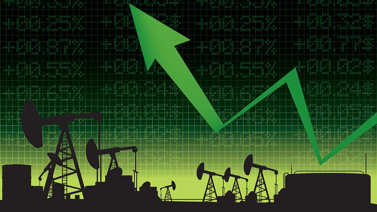 рост цен на нефть зеленая стрелка дорожает