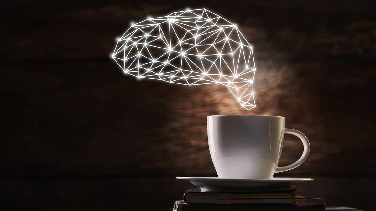 чашка кофе мозг brain and coffee