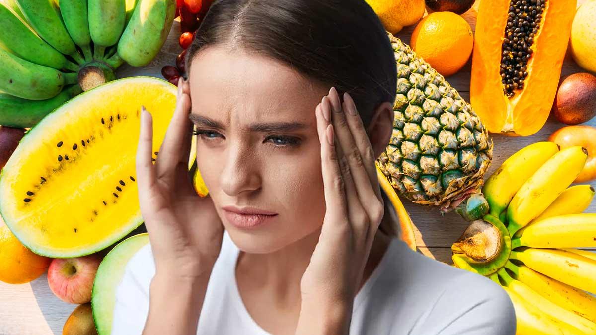 девушка головная боль арбуз виноград фрукты