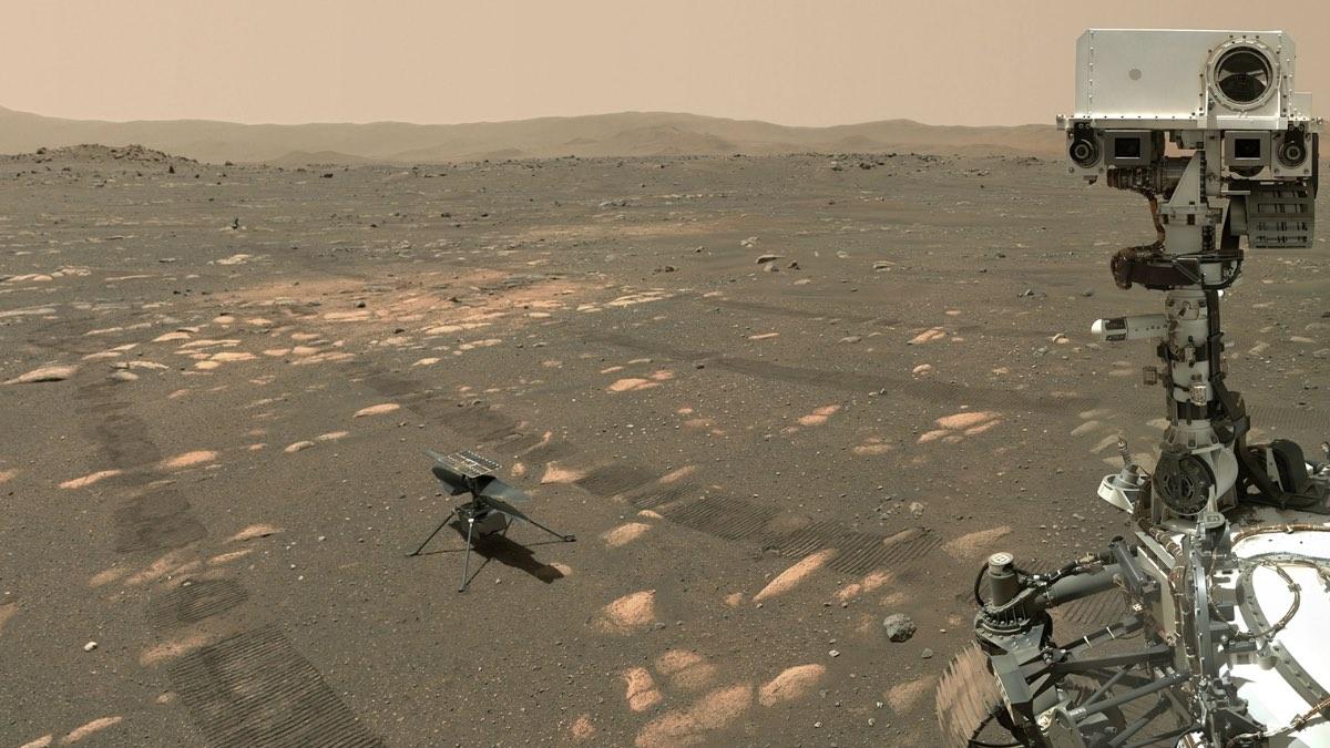 дрон Изобретательность на Марсе