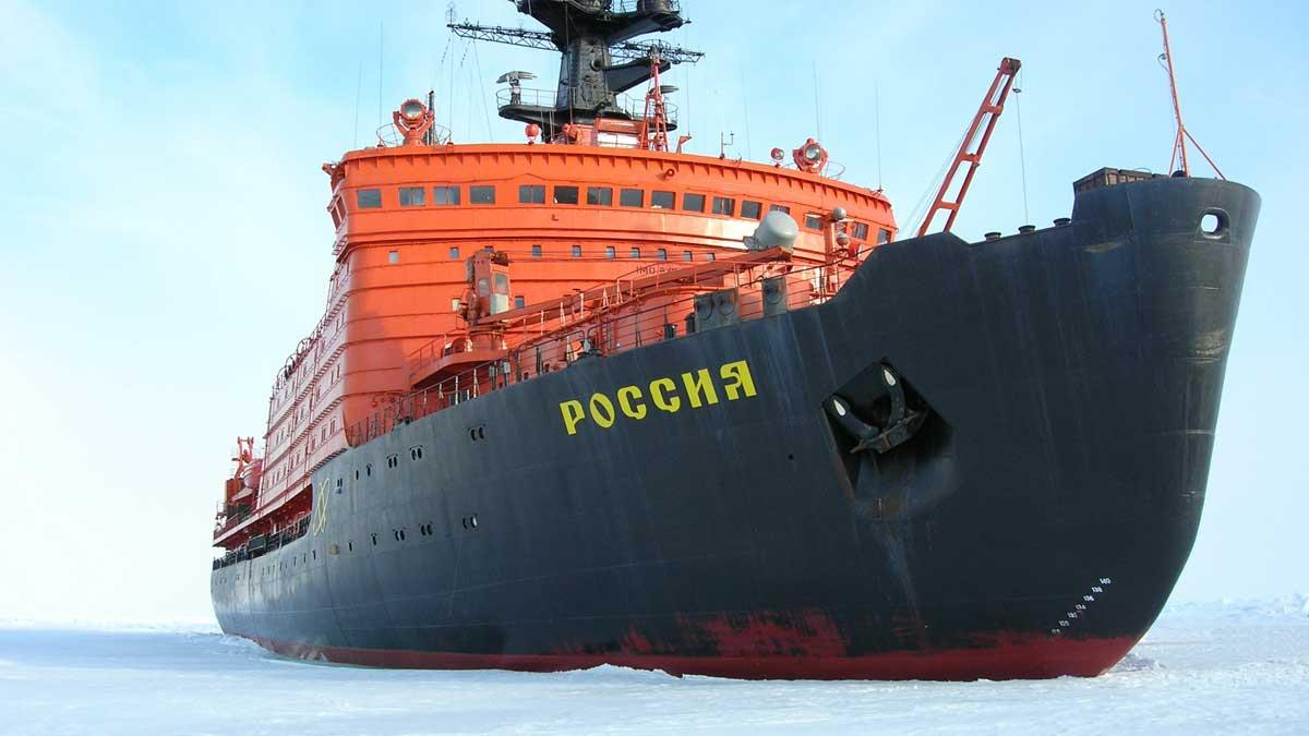 корабль ледокол Россия