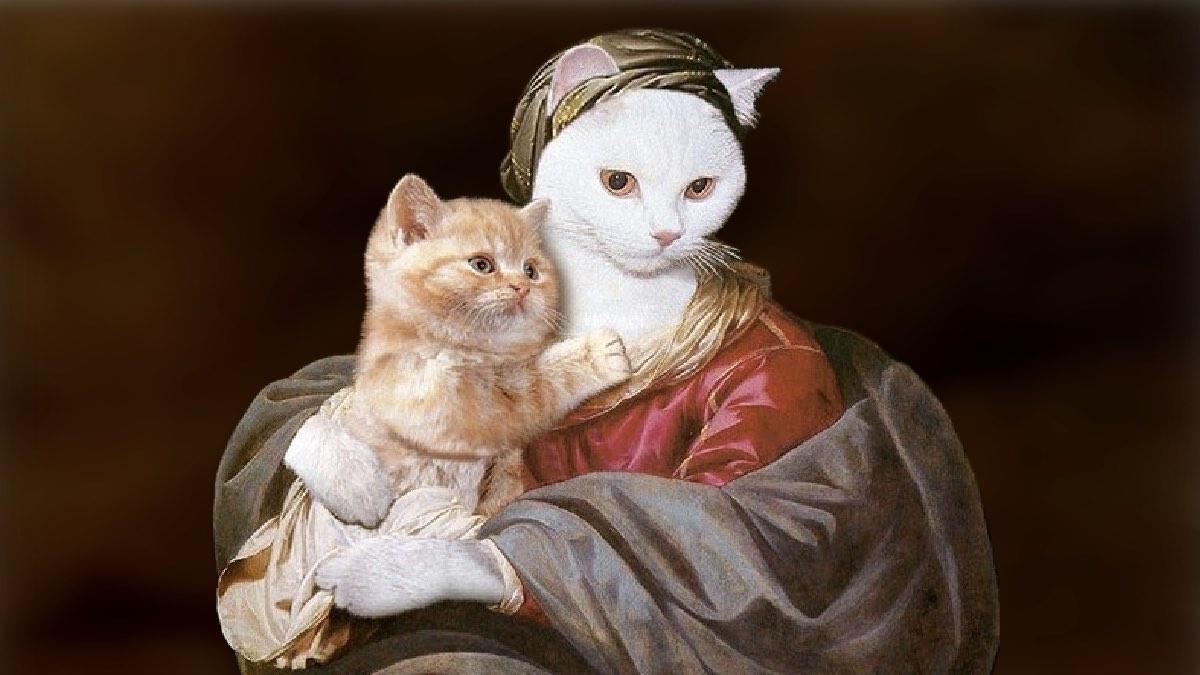 кошки в доме van Biljert, Madonna and Child, 1635