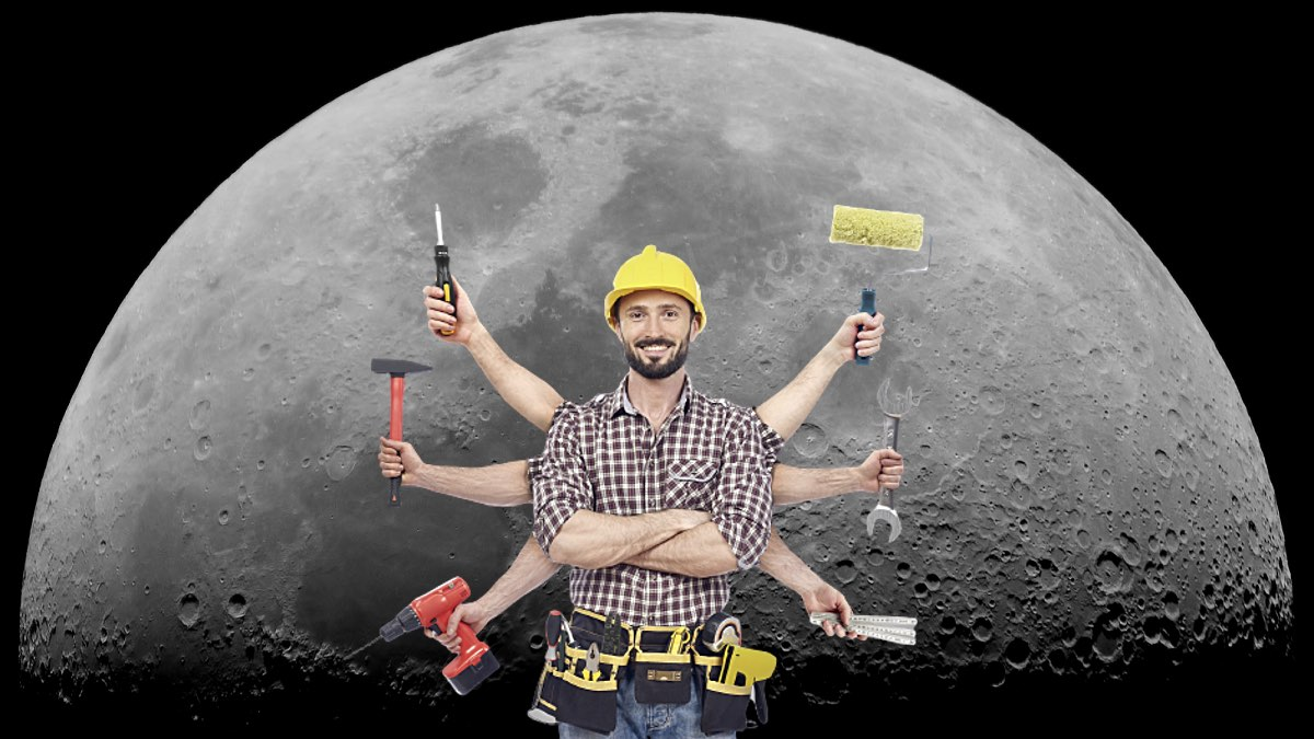 луна и ремонт