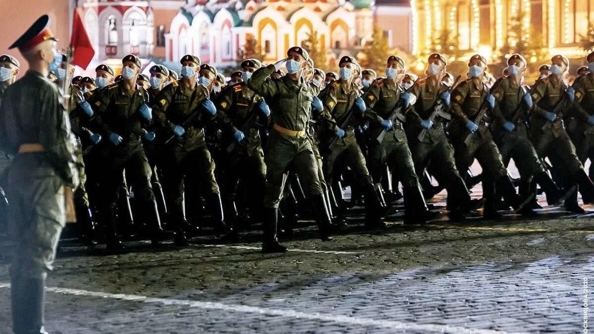 ночная тренировка парада победы
