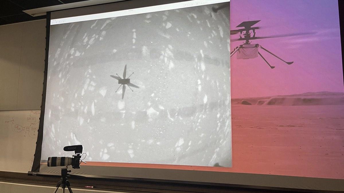 первый полет коптера на Марсе