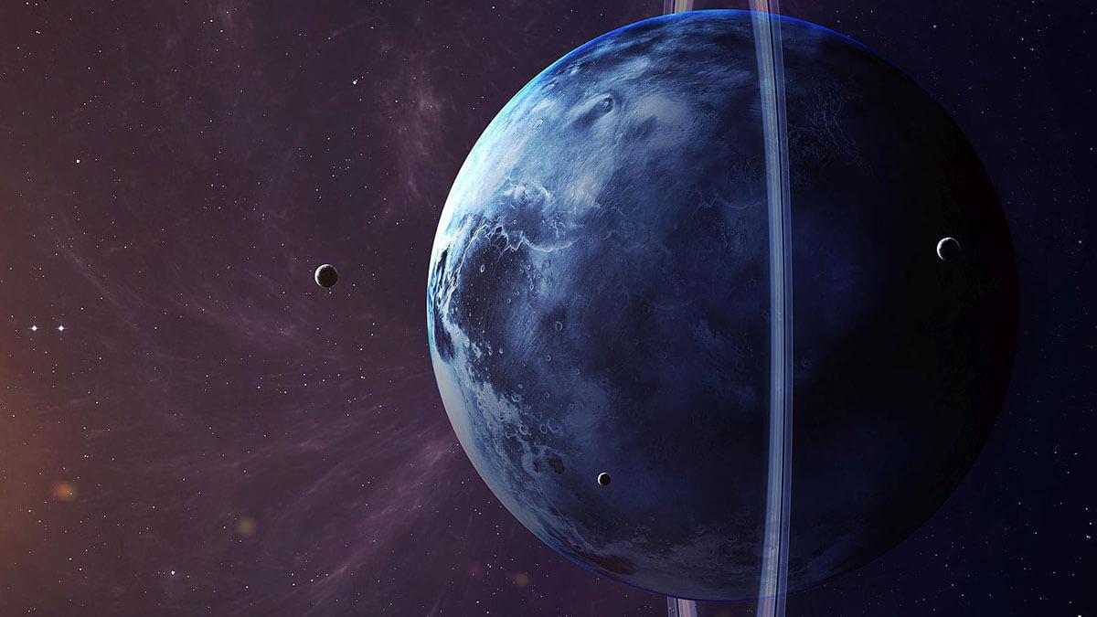 планета уран космос солнечная система спутники
