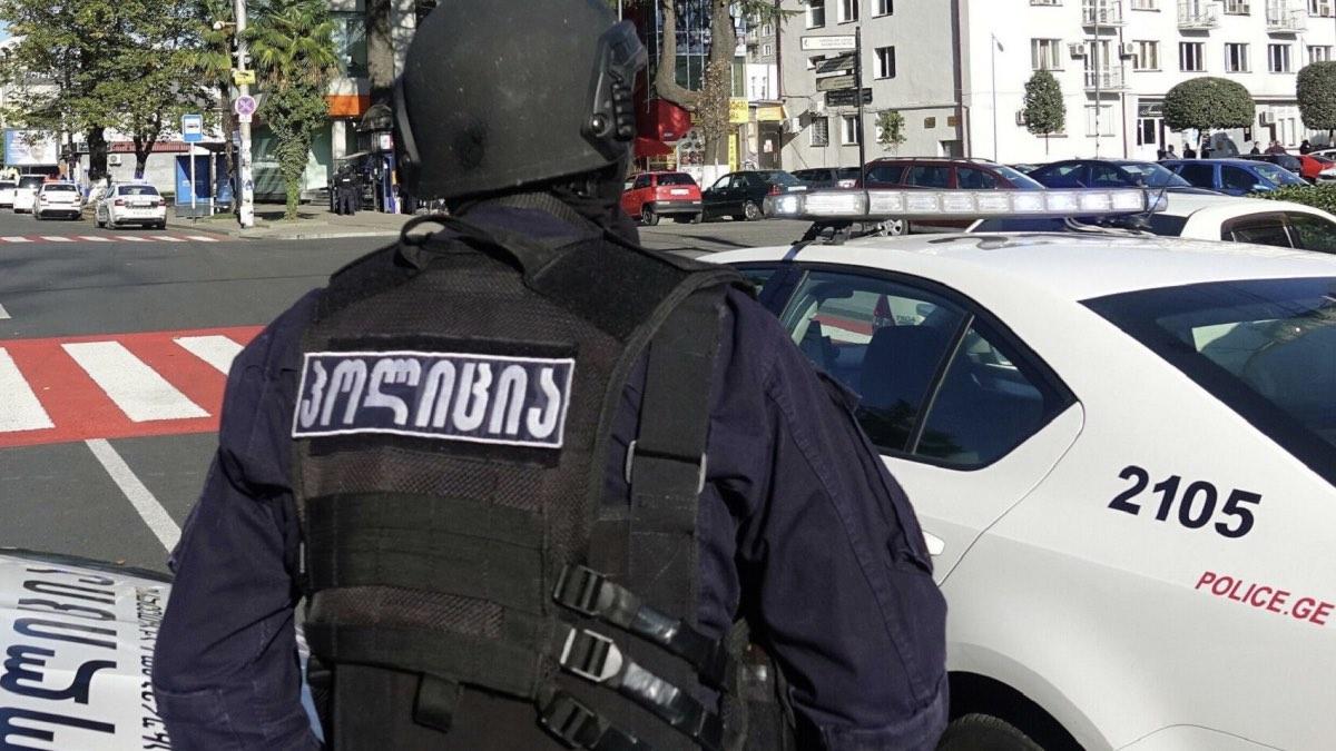 полиция тбилиси захват банка