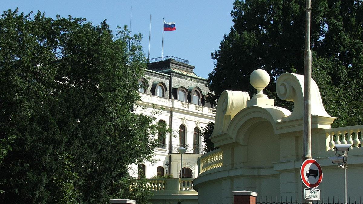 здание посольства РФ в праге