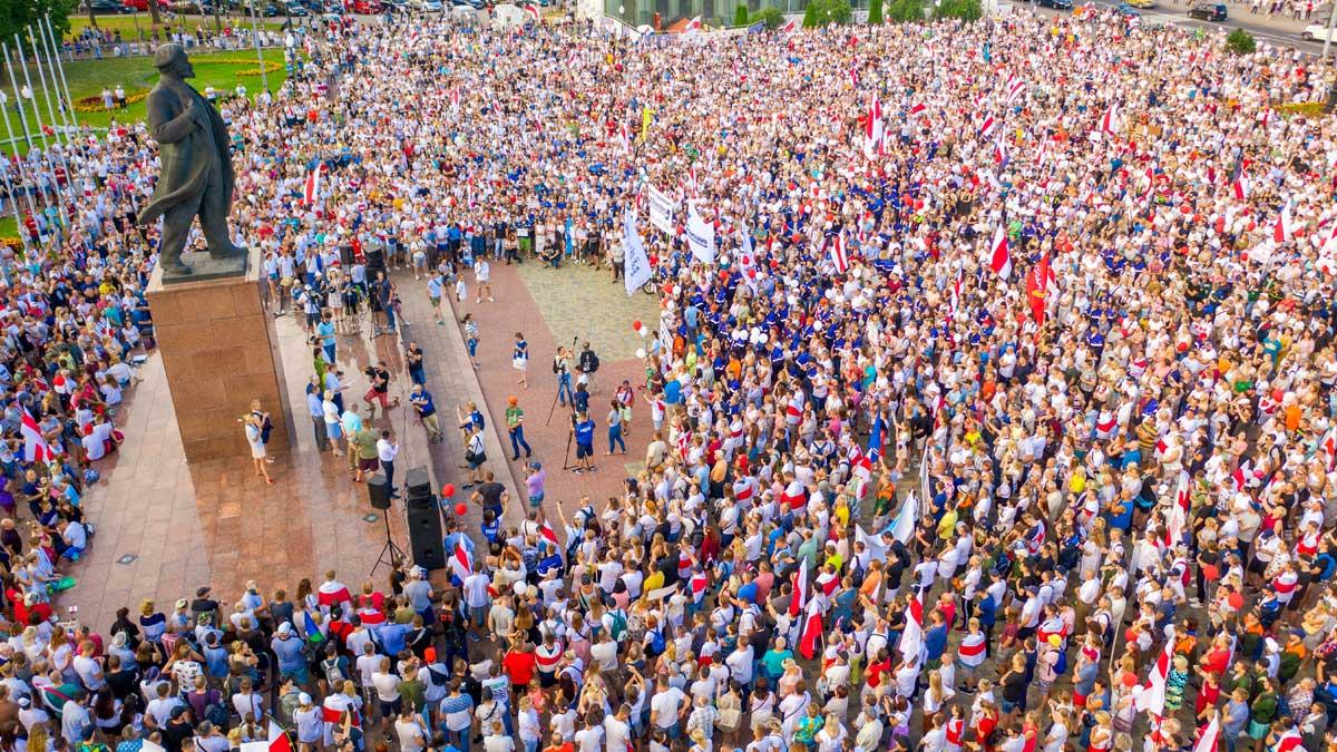 митинг Белоруссия