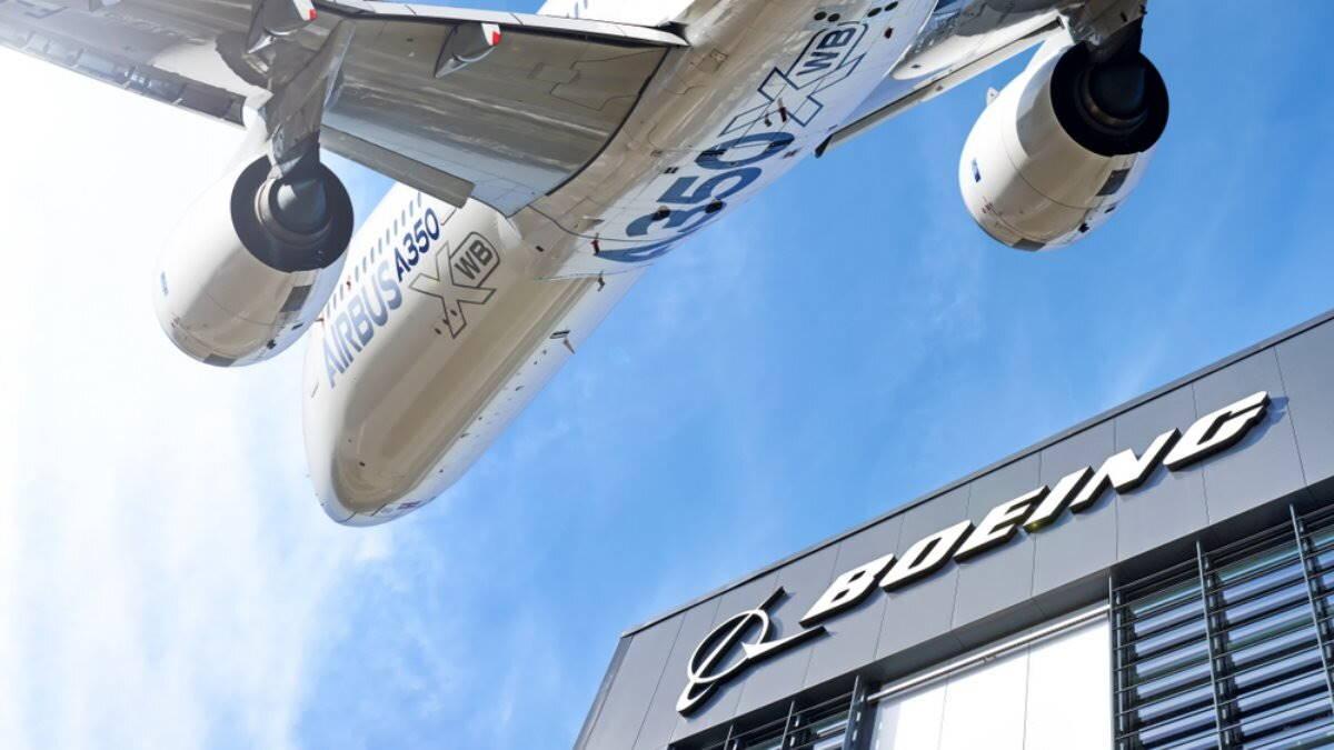 Boeing и Airbus логотипы