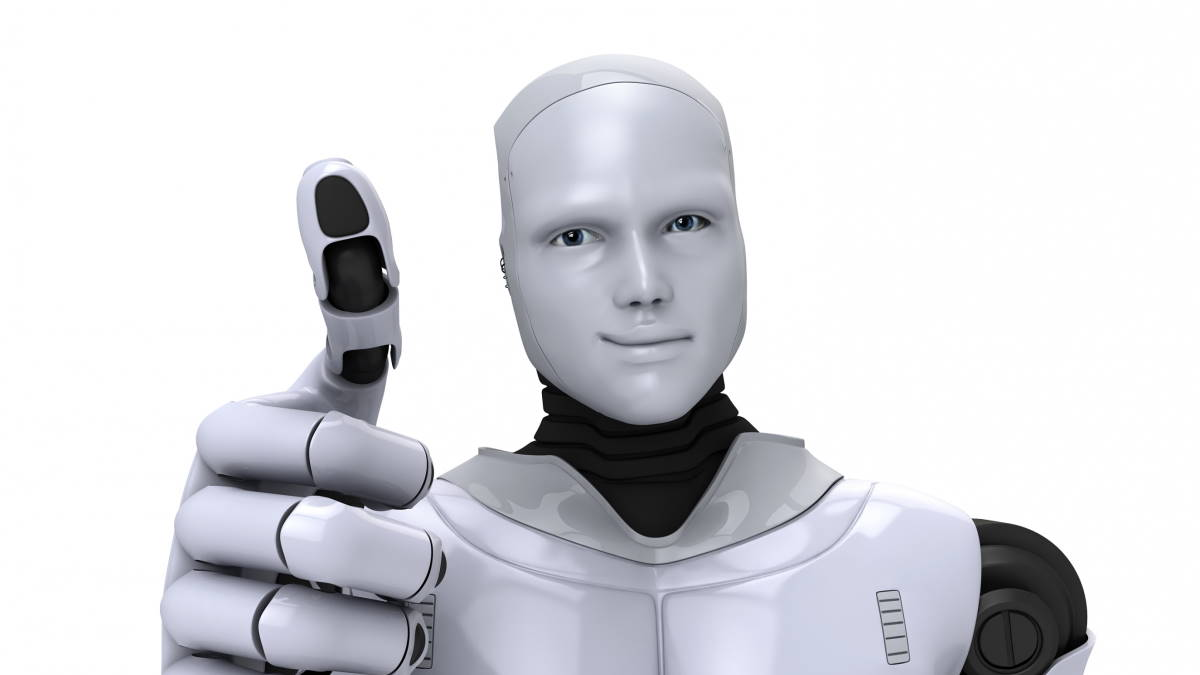 Улыбающийся робот
