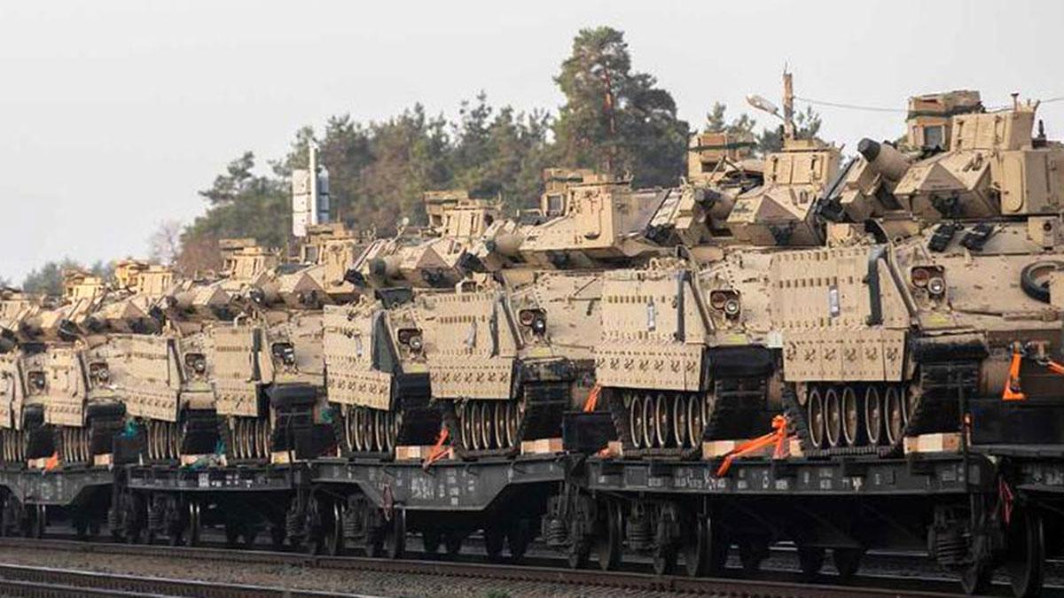 транспортировка танков сша абрамс железная дорога