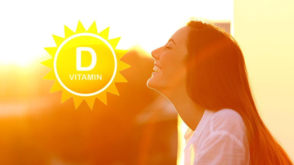 витамин д d девушка радуется солнцу