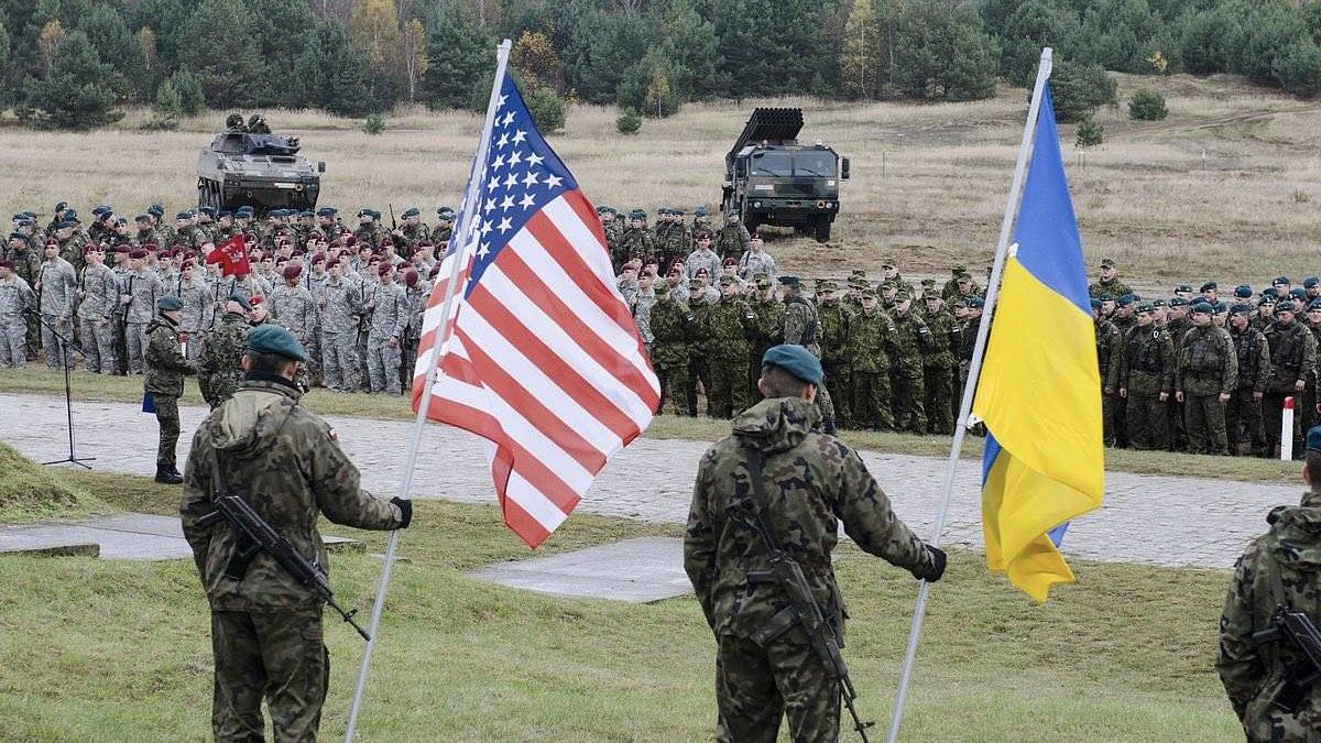 США НАТО Украина военные солдаты армия учения два