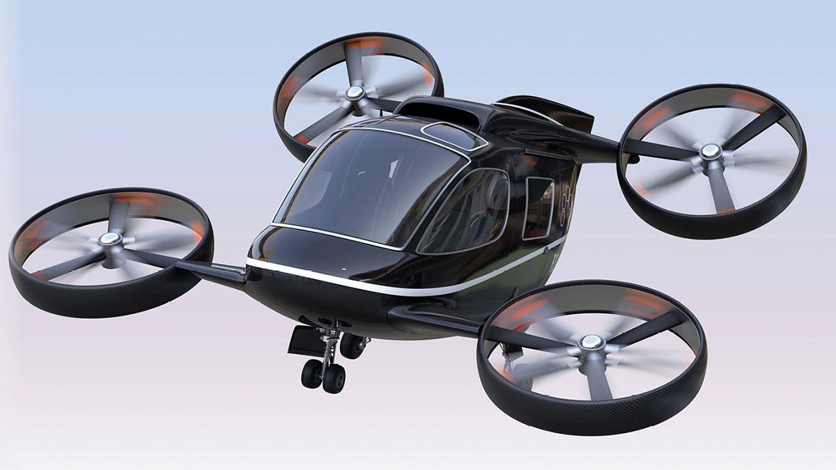 воздушное такси квадрокоптер технологии транспорт