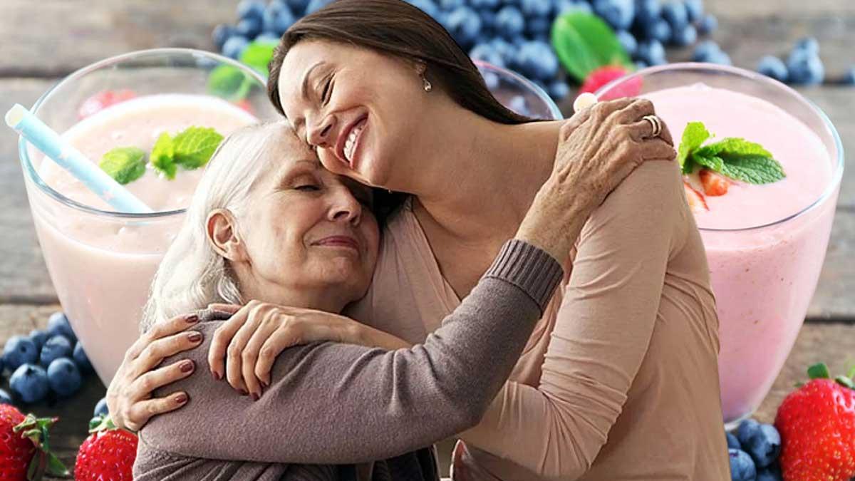 женщина обнимаются йогурт