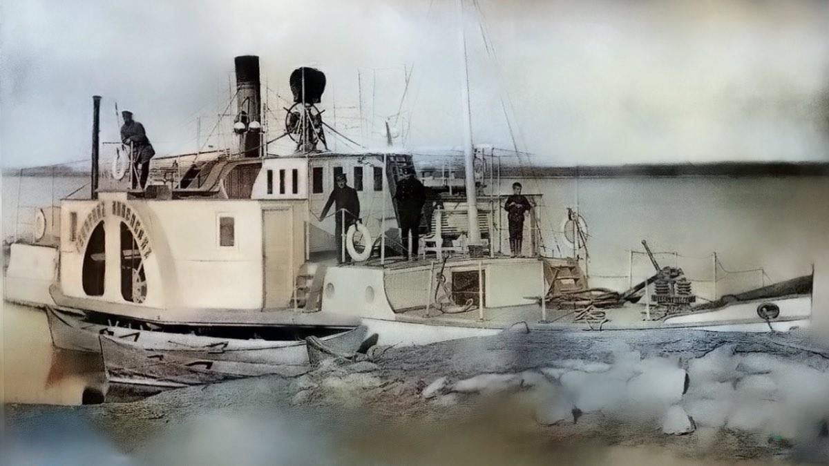 Пароход Амударьинской флотилии до революции