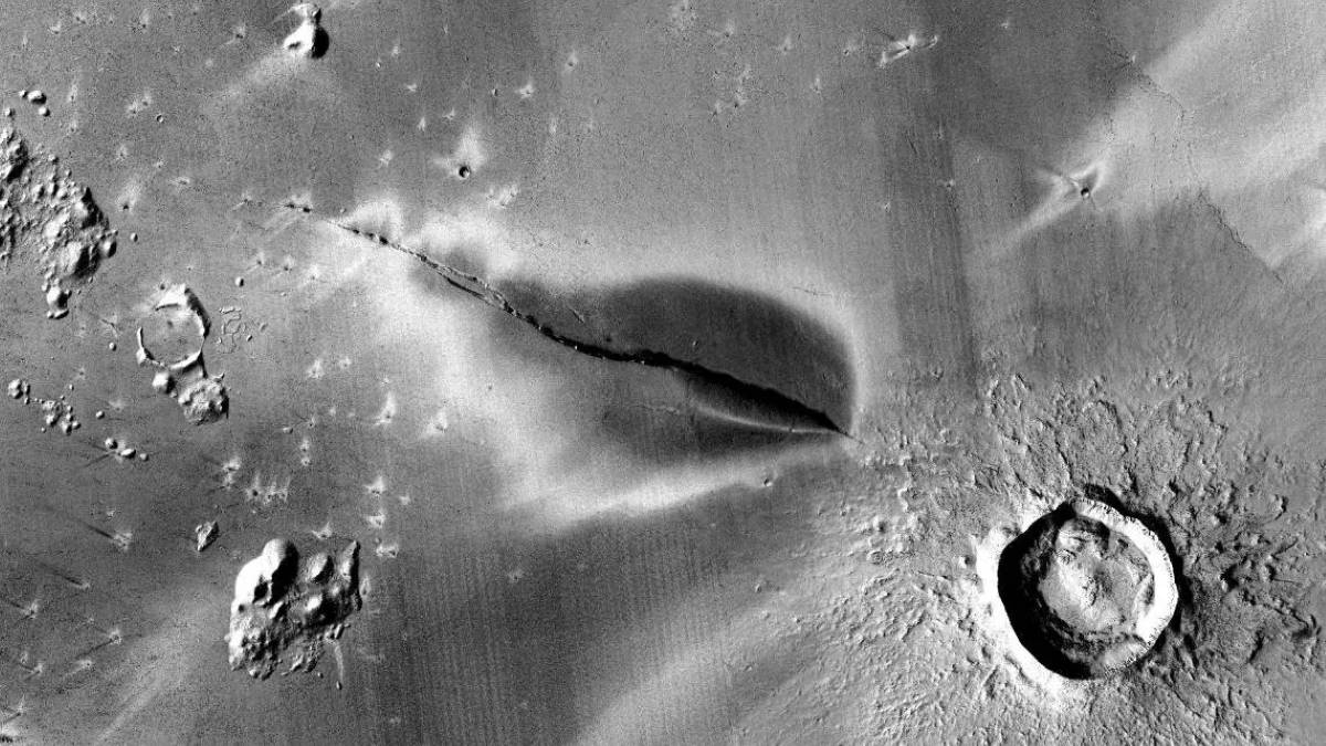 вулканы на Марсе