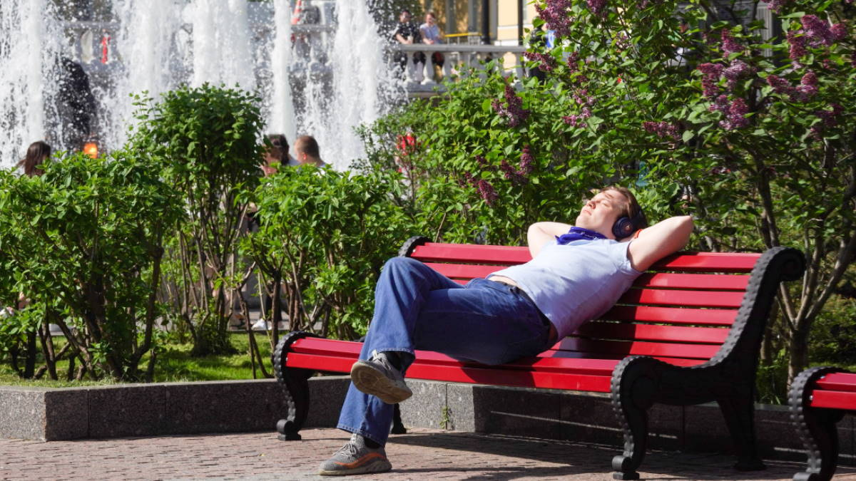 Погода жара фонтан