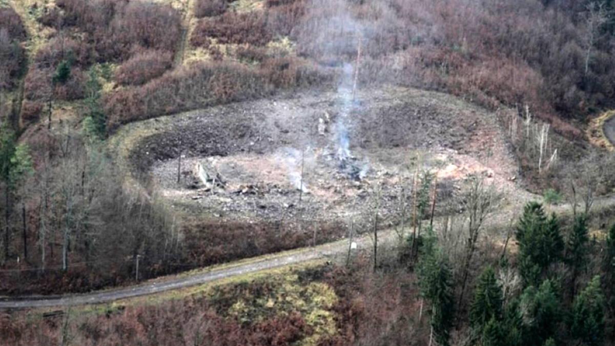 Место взрыва склада боеприпасов в Врбетице