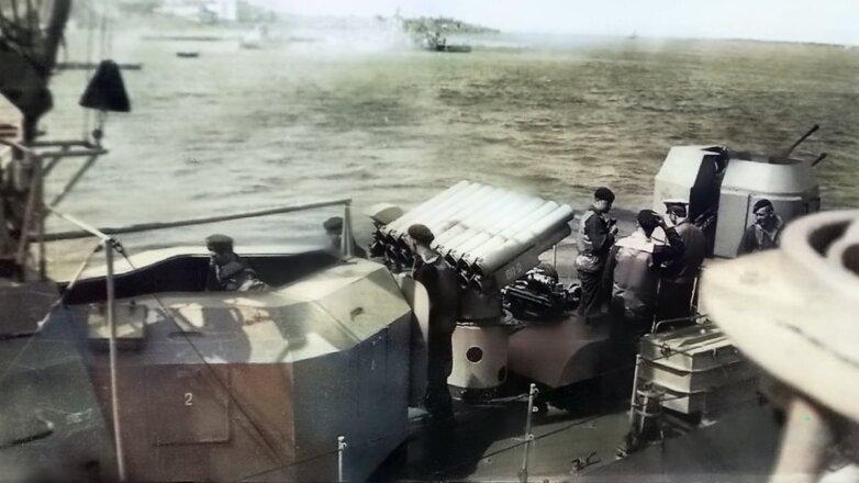 Советские военные моряки береговой охраны