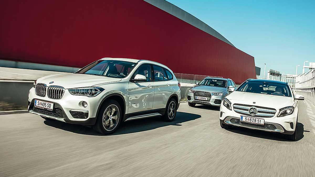 Audi Q3 vs BMW X1 vs Mercedes GLA