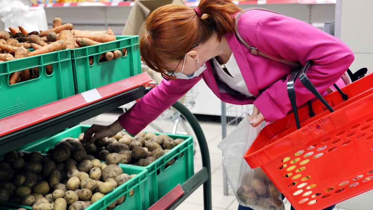 Картошка морковь овощи магазин